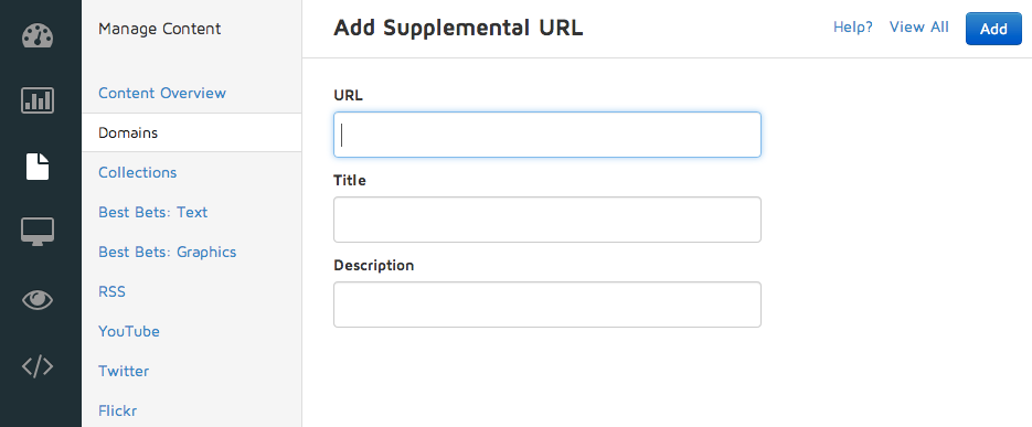 Add a Supplemental URL