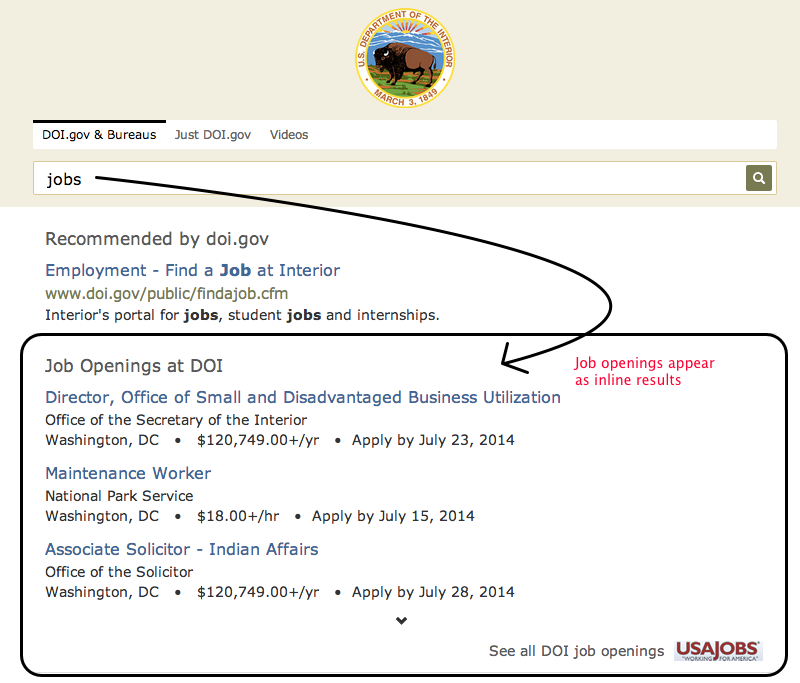 Search results for jobs on DOI.gov