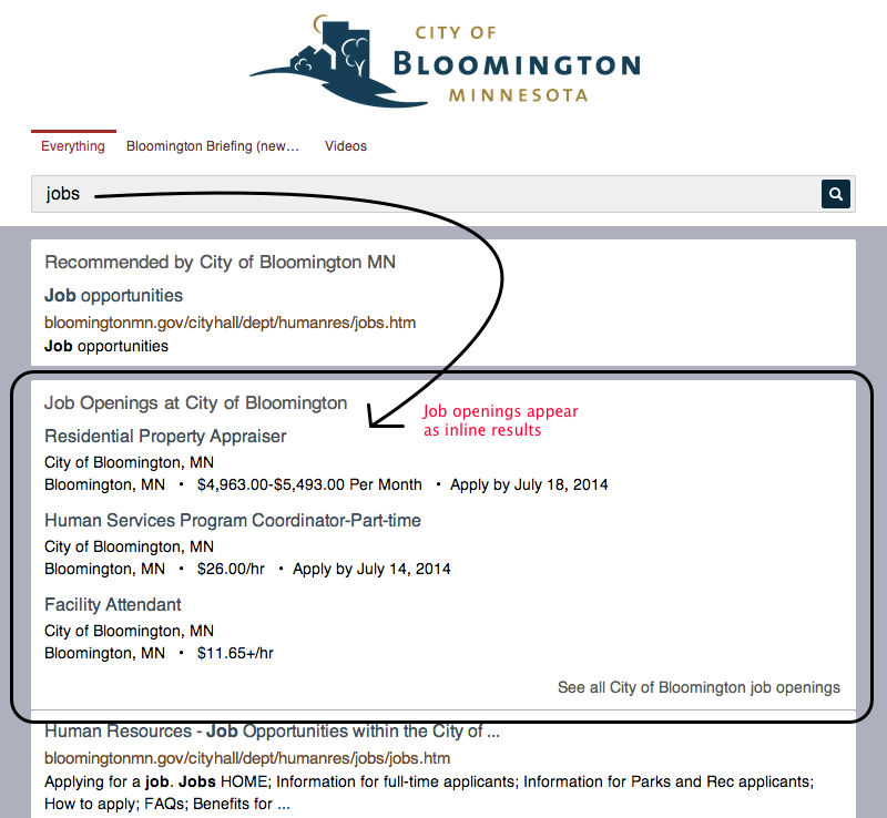 Search results for jobs on ci.bloomington.mn.us