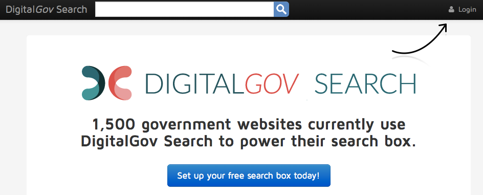 Login from search.digitalgov.gov