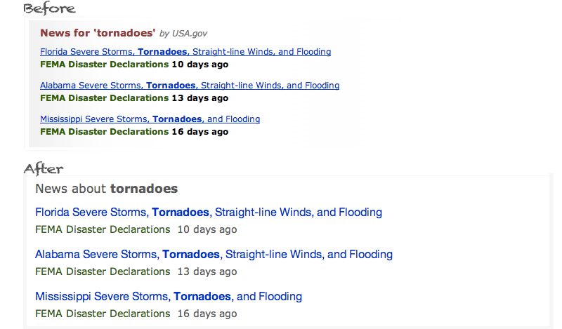 News search results for tornado on USA.gov